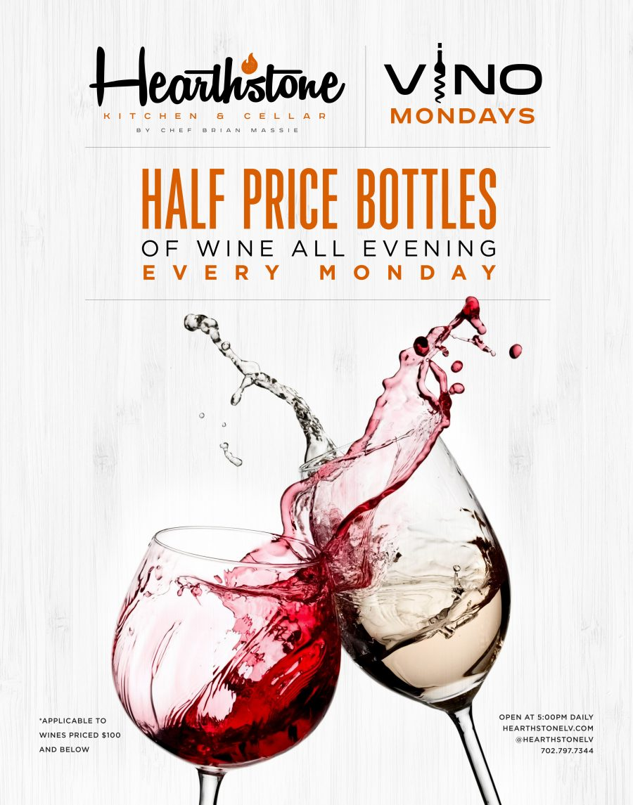Calling All Wine Lovers! Enjoy Half Off Wine Mondays at Hearthstone