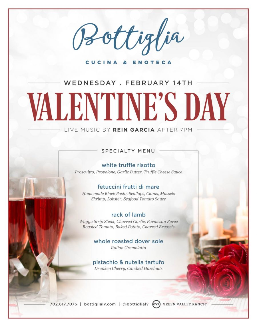 Celebrate Valentine's Day at Henderson Restaurant Bottiglia