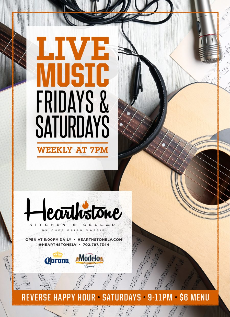 Summerlin Restaurant Hearthstone Live Music Fridays in February