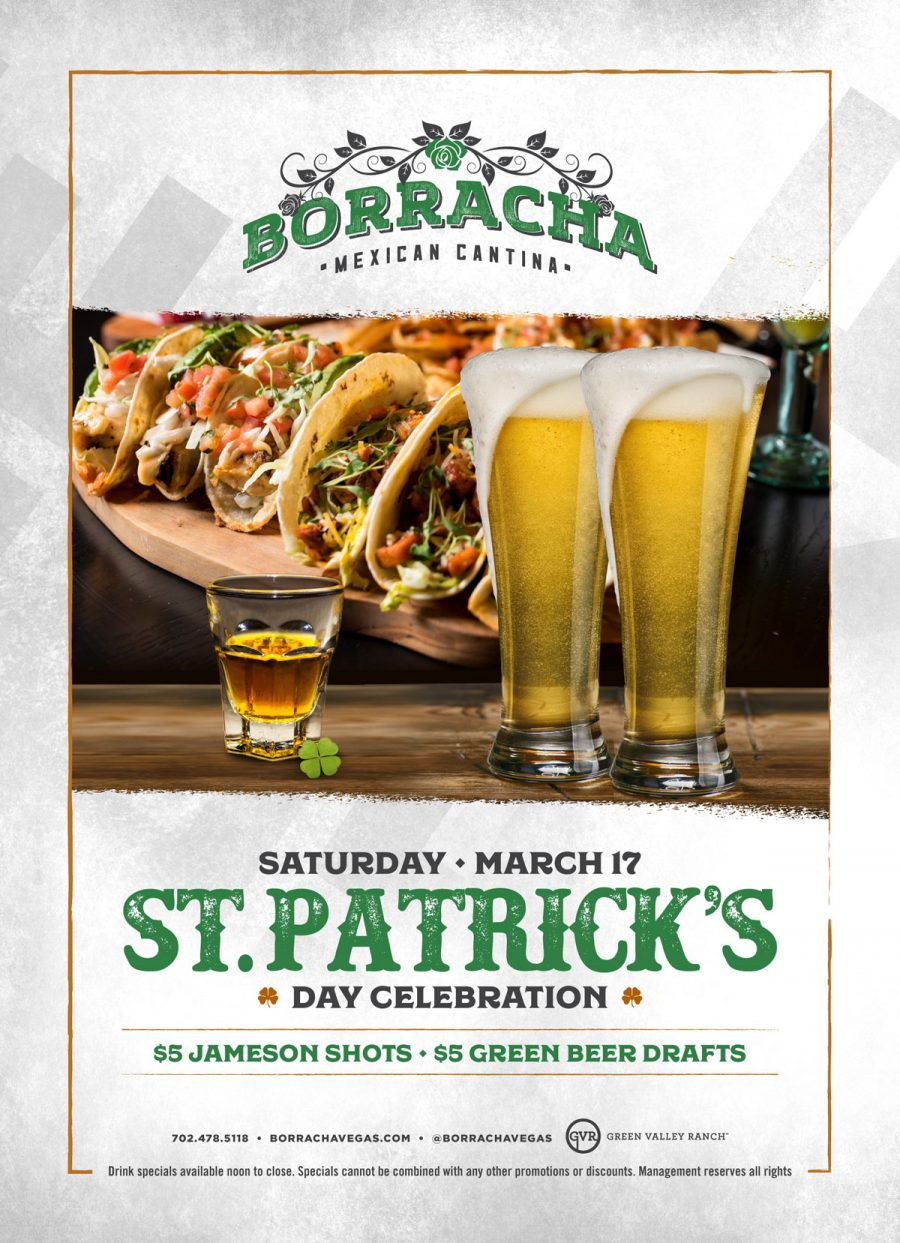 Celebrate St. Patrick's Day Here at Henderson Restaurant Borracha Mexican Cantina