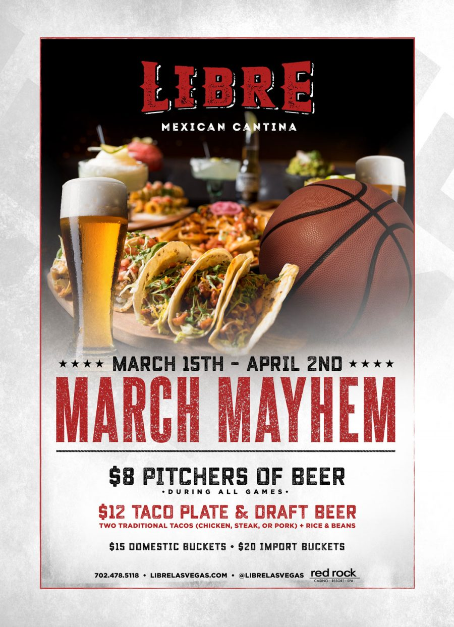 Come Get in on All of the March Madness Here at Libre Mexican Cantina