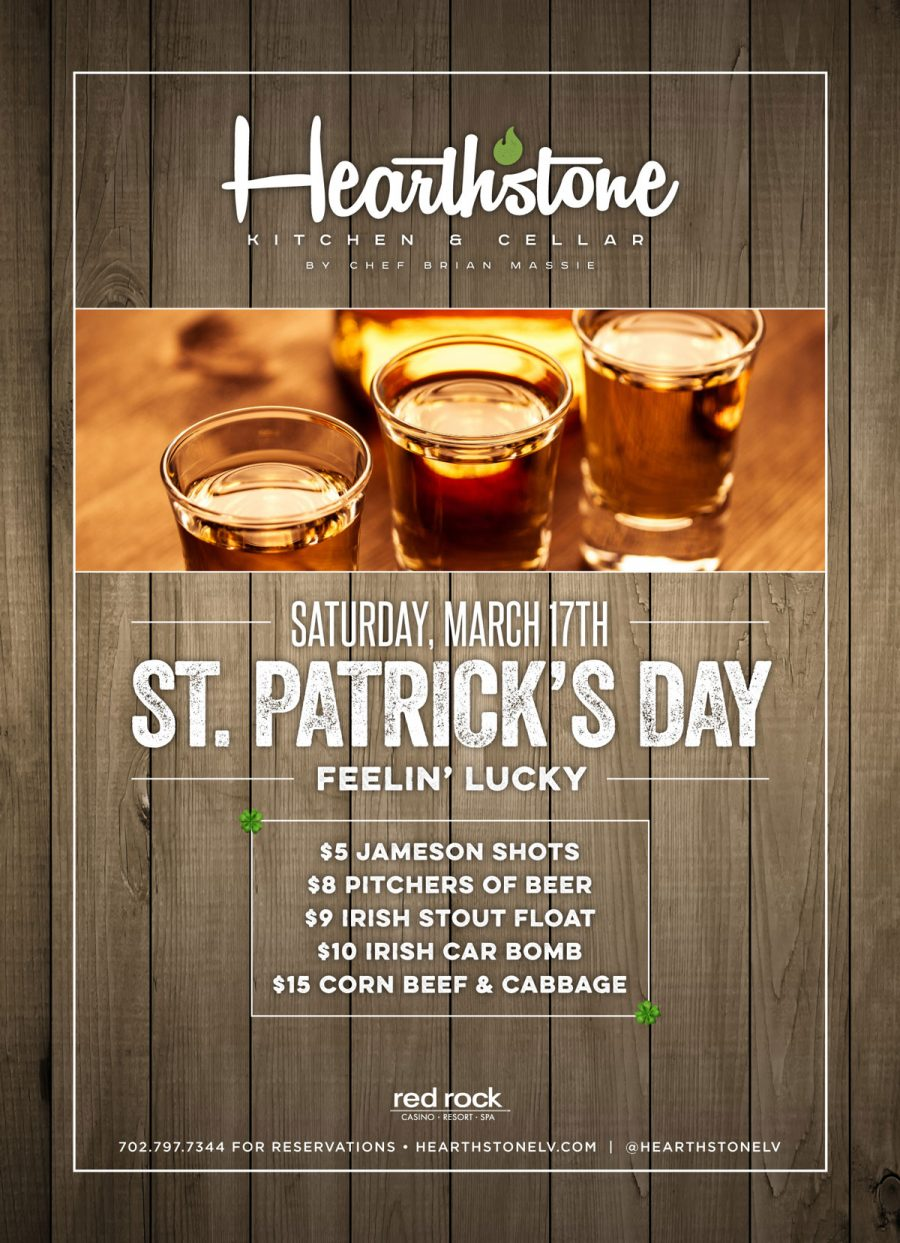 Celebrate St. Patrick's Day at Summerlin Restaurant Hearthstone
