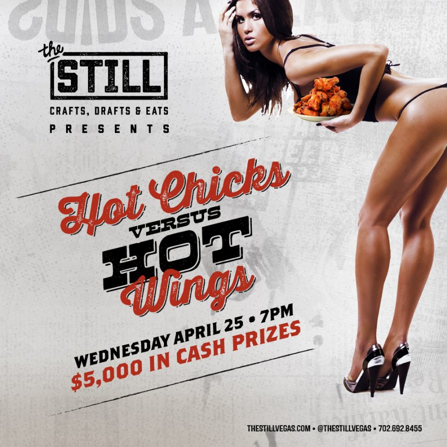 Hot Chicks Vs. Hot Wings April 25th