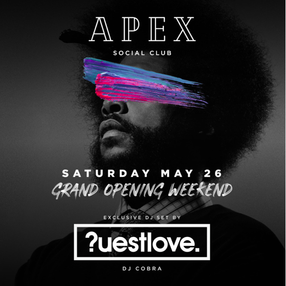 Questlove apex grand opening