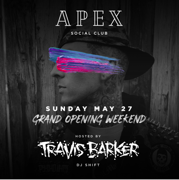 travis barker apex grand opening
