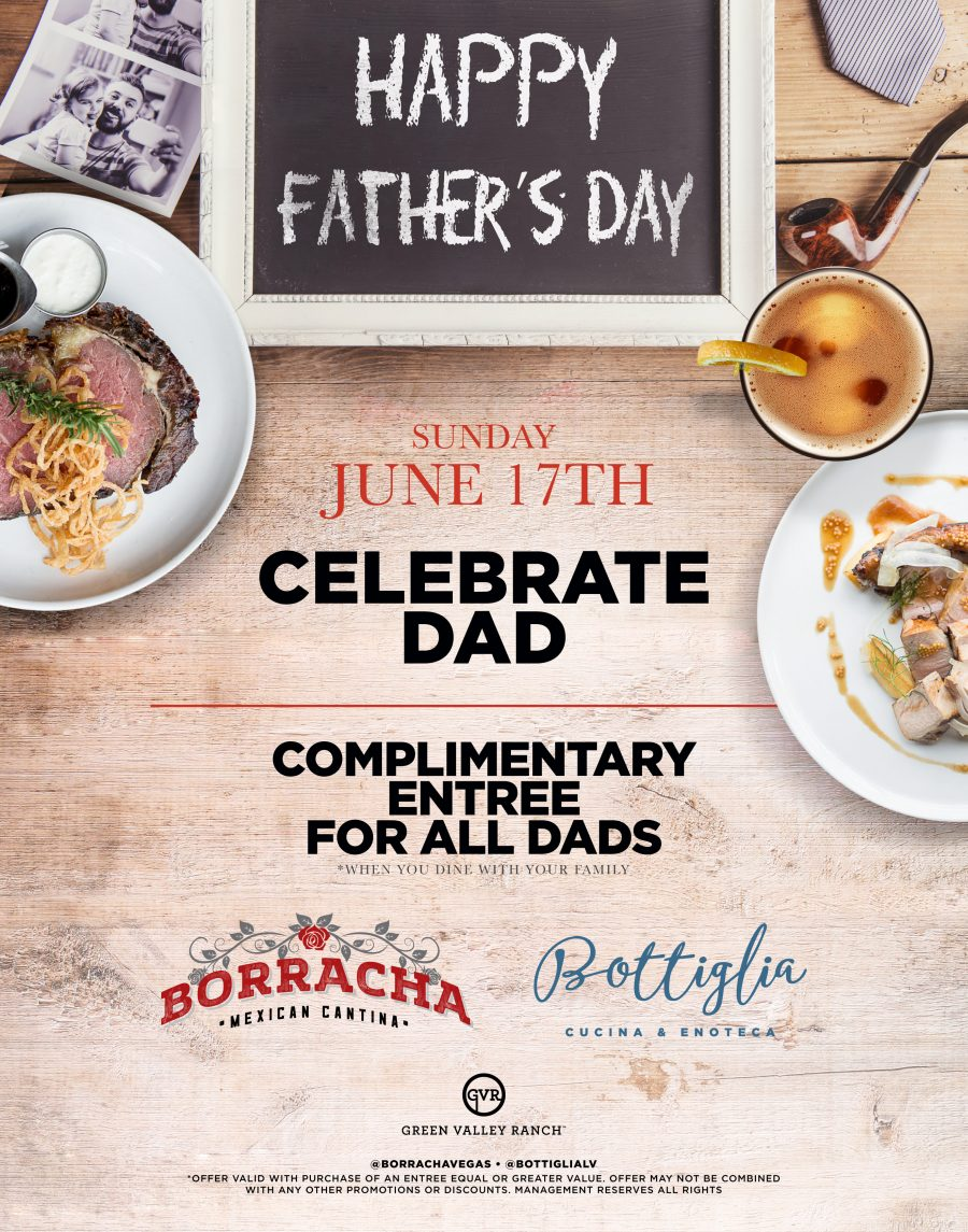 Make Borracha Your Father's Day Destination This Year With Our Amazing Specials!