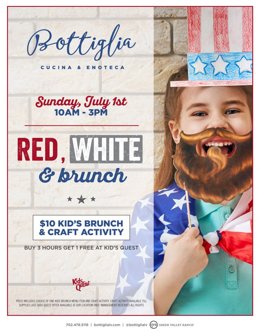 Celebrate Our 4th Of July Kids Brunch Here at Bottiglia