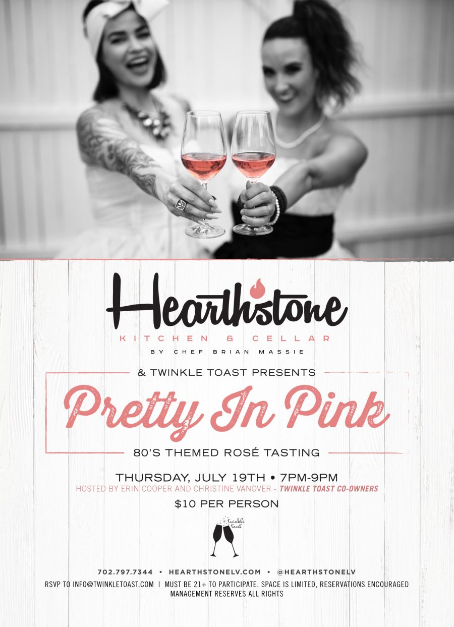 Come Join Hearthstone for Our Pretty In Pink Rose Tasting
