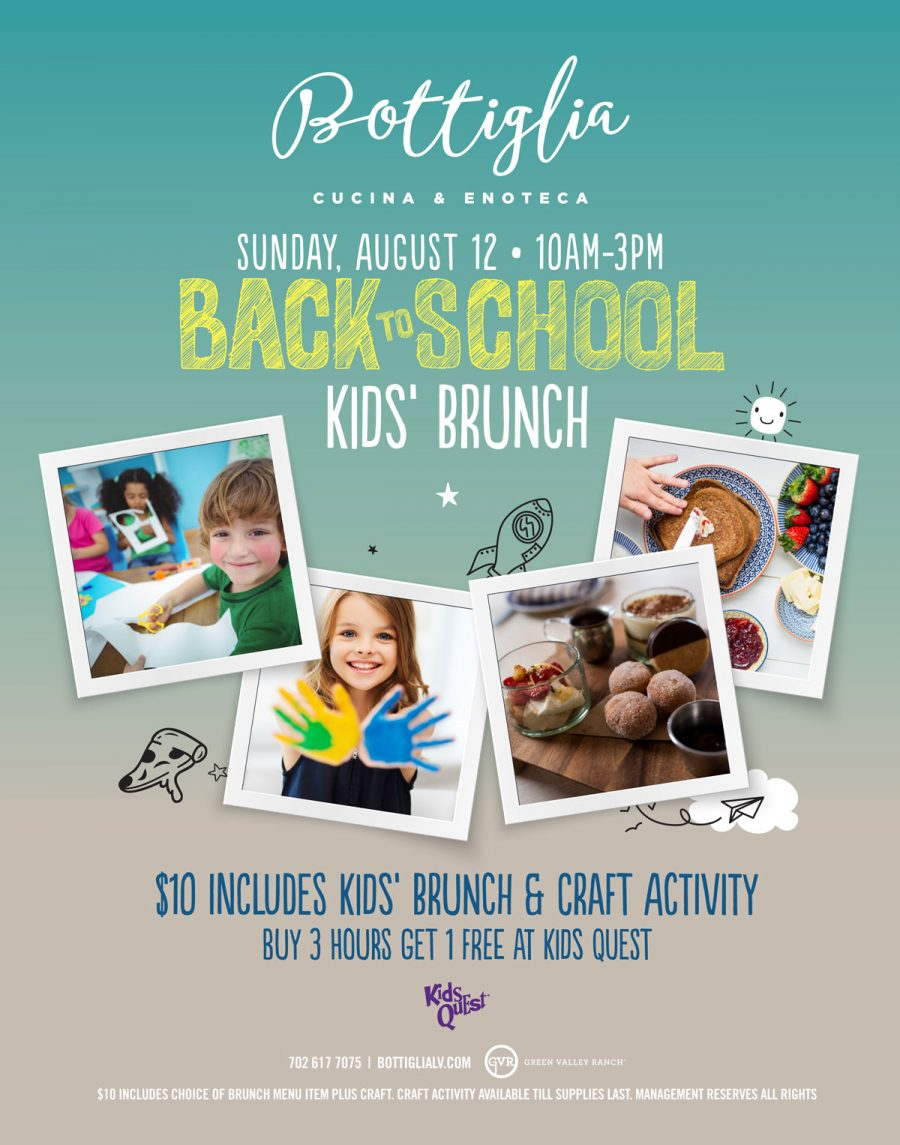 Come Join Bottiglia for Our Back to School Brunch!
