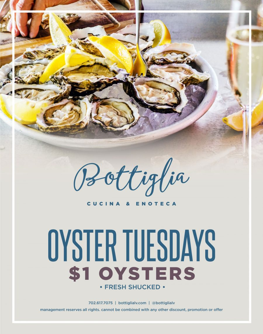 Enjoy The Best Oyster Deals in Henderson Nevadad at Bottiglia Oyster Tuesdays