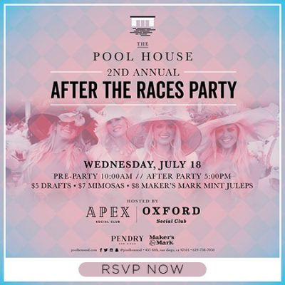 Del Mar Races After Party At Pool House San Diego