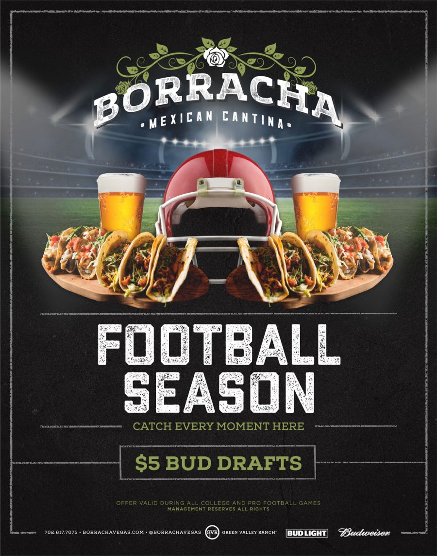 Football Season is Here at Borracha!