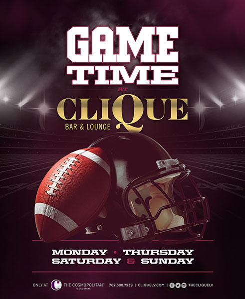 Celebrate the Kick Off of Football Season at CliQue Bar and Lounge