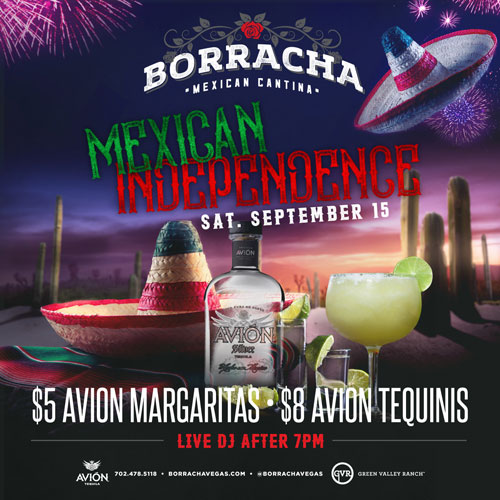 Come Celebrate Mexican Independence Day at Borracha!