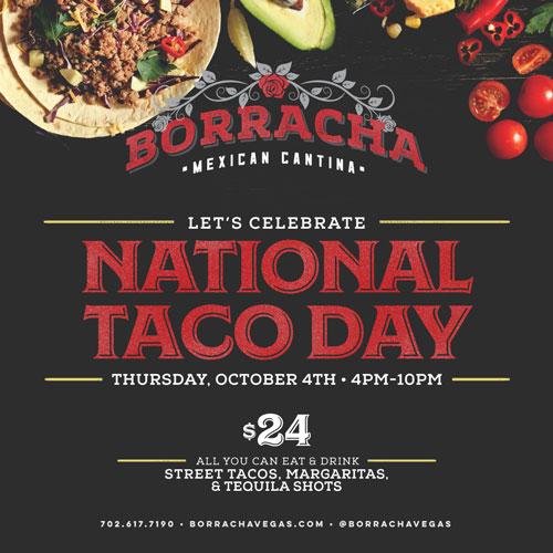 borracha national taco day