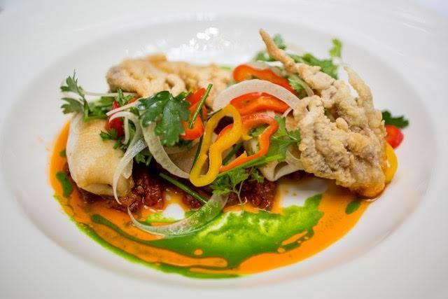 octupus squid dishes at lionfish