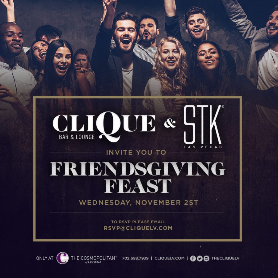 Come Spend Your Friendsgiving Feast With Us Here at CliQue