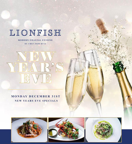 Celebrate New Year's Eve In San Diego at Lionfish