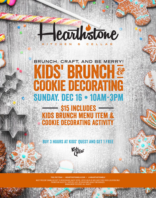 Celebrate Christmas Early With Hearthstone's Kids' Brunch and Cookie Decorating