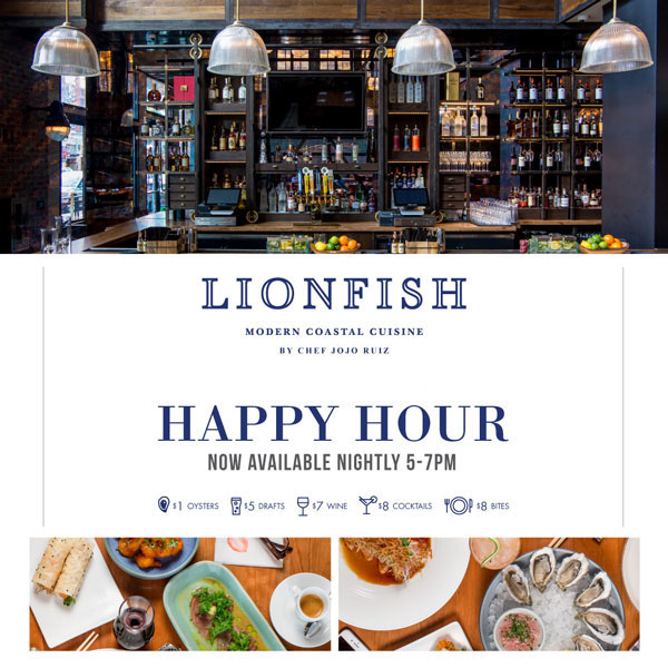 Lionfish Happy Hour San Diego