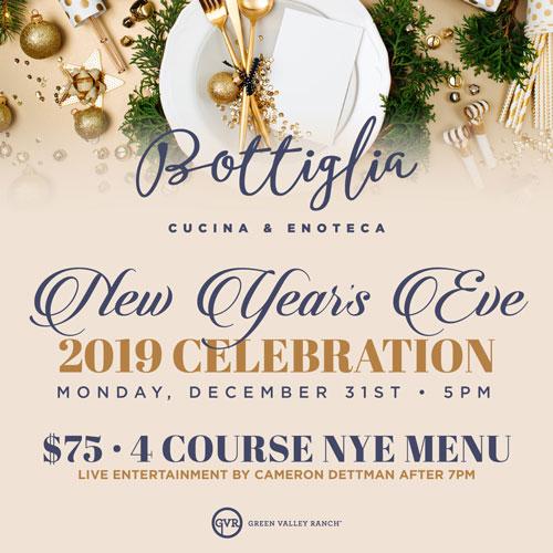 Celebrate New Year's Eve at Bottiglia