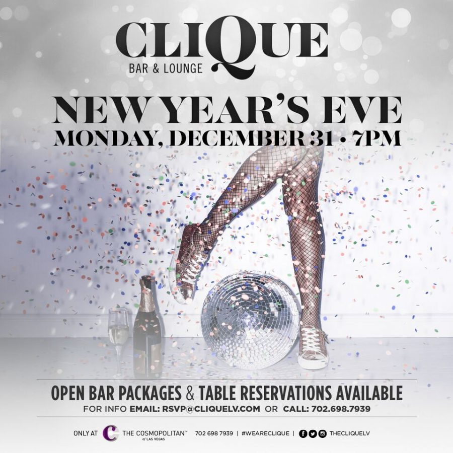 Celebrate New Year's Eve In Las Vegas at CliQue Bar & Lounge!