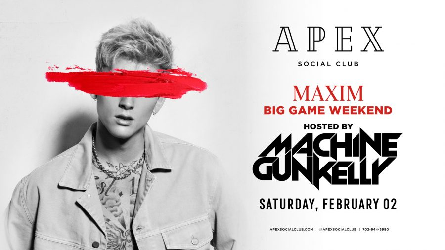 Machine Gun Kelly Performing Live in Las Vegas at Apex Social Club