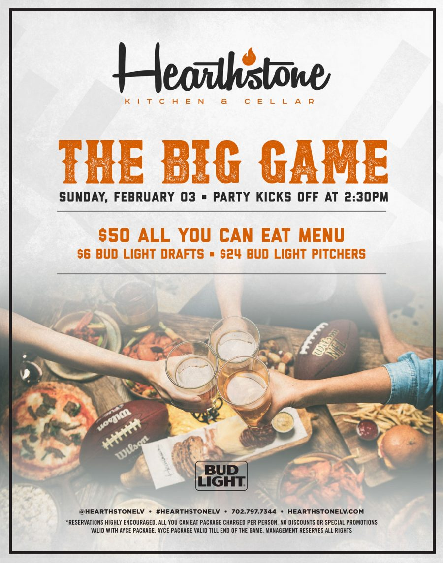 Come Catch The Big Game in Summerlin Live at Hearthstone