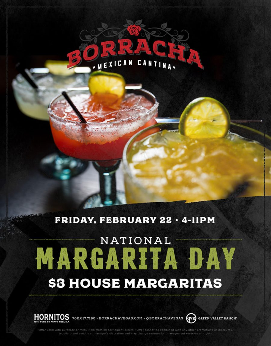Celebrate National Margarita Day at Borracha Mexican Cantina