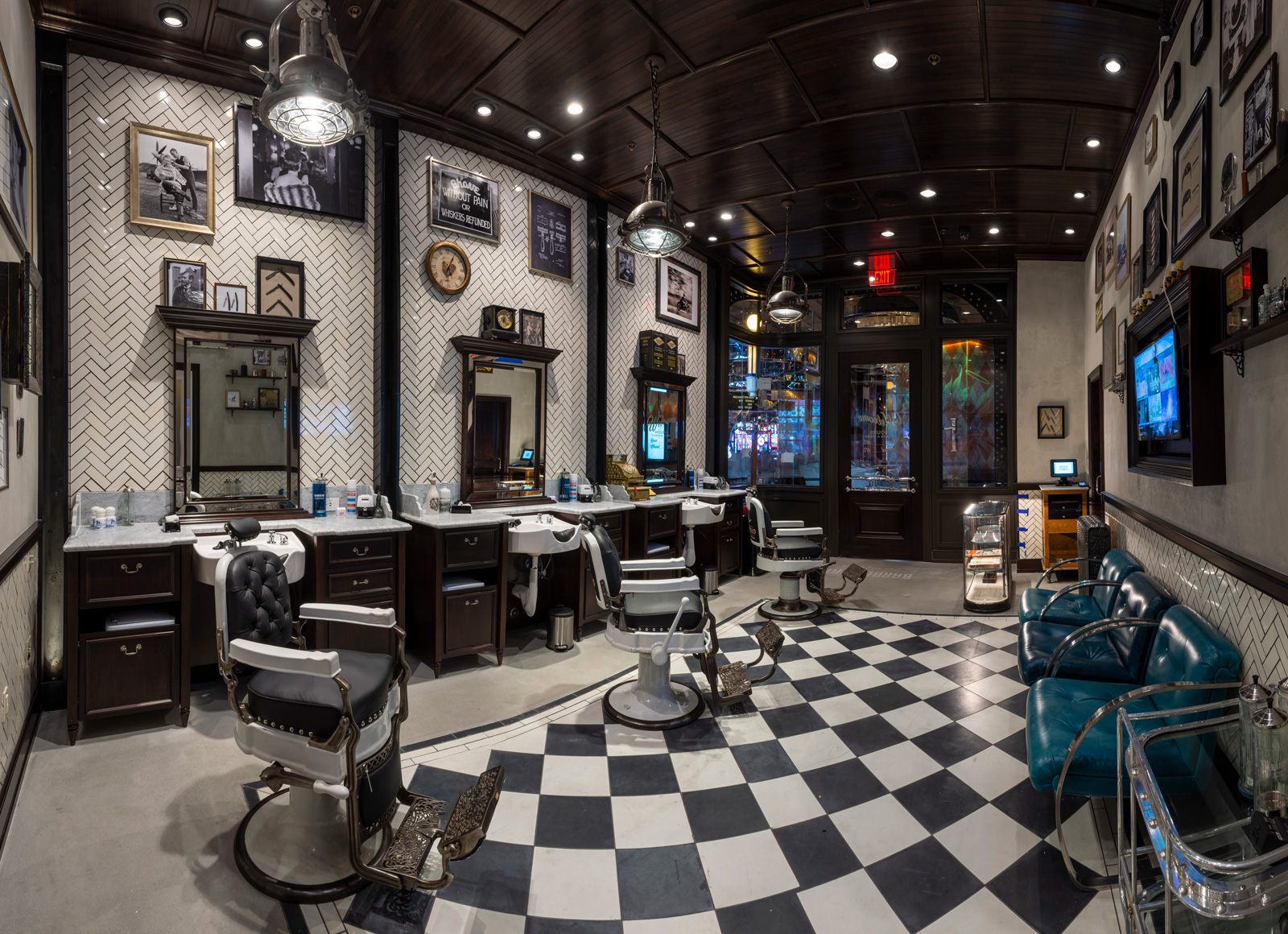 barbershop cuts & cocktails interior - las vegas speakeasy