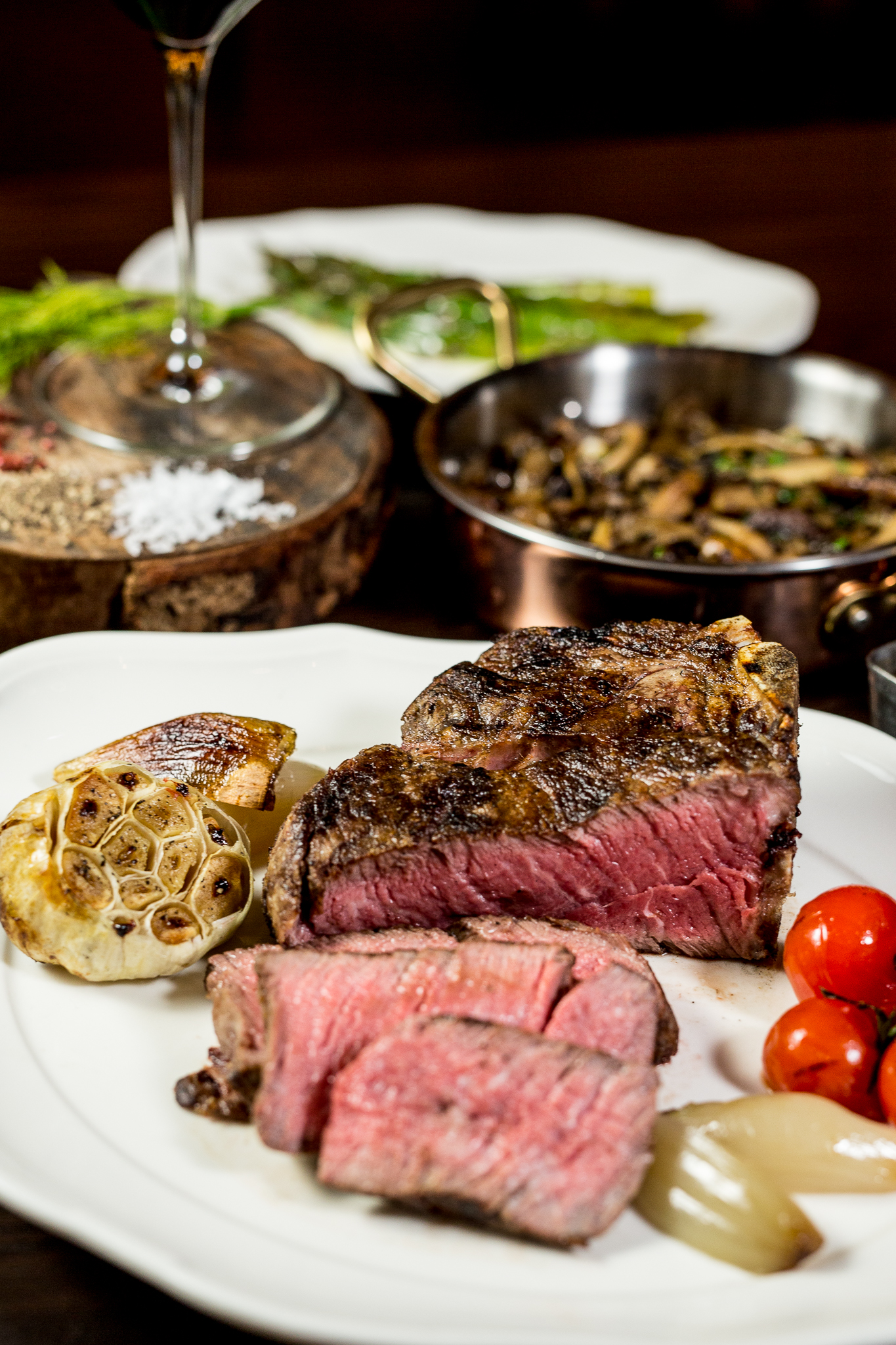 Bull & Bourbon - Marbled Steak with Vegetables