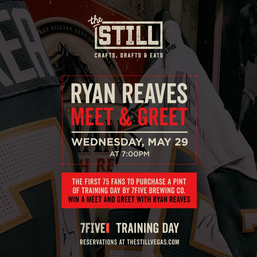 Vegas Golden Knights – Ryan Reaves Meet & Greet on May 29 At The Still Las Vegas