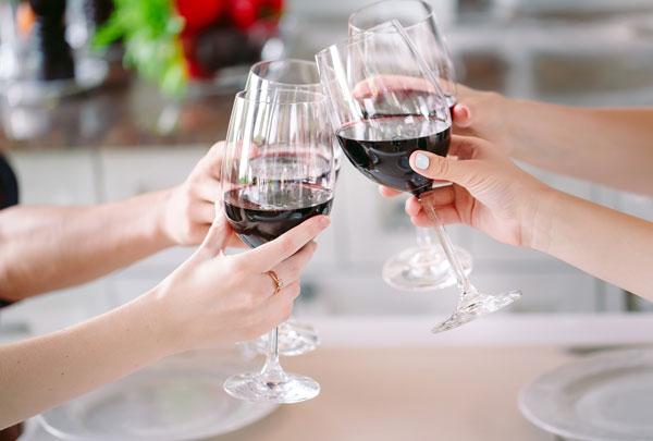 Cheers at Henderson Fine Italian Cuisine - Vine & Dine