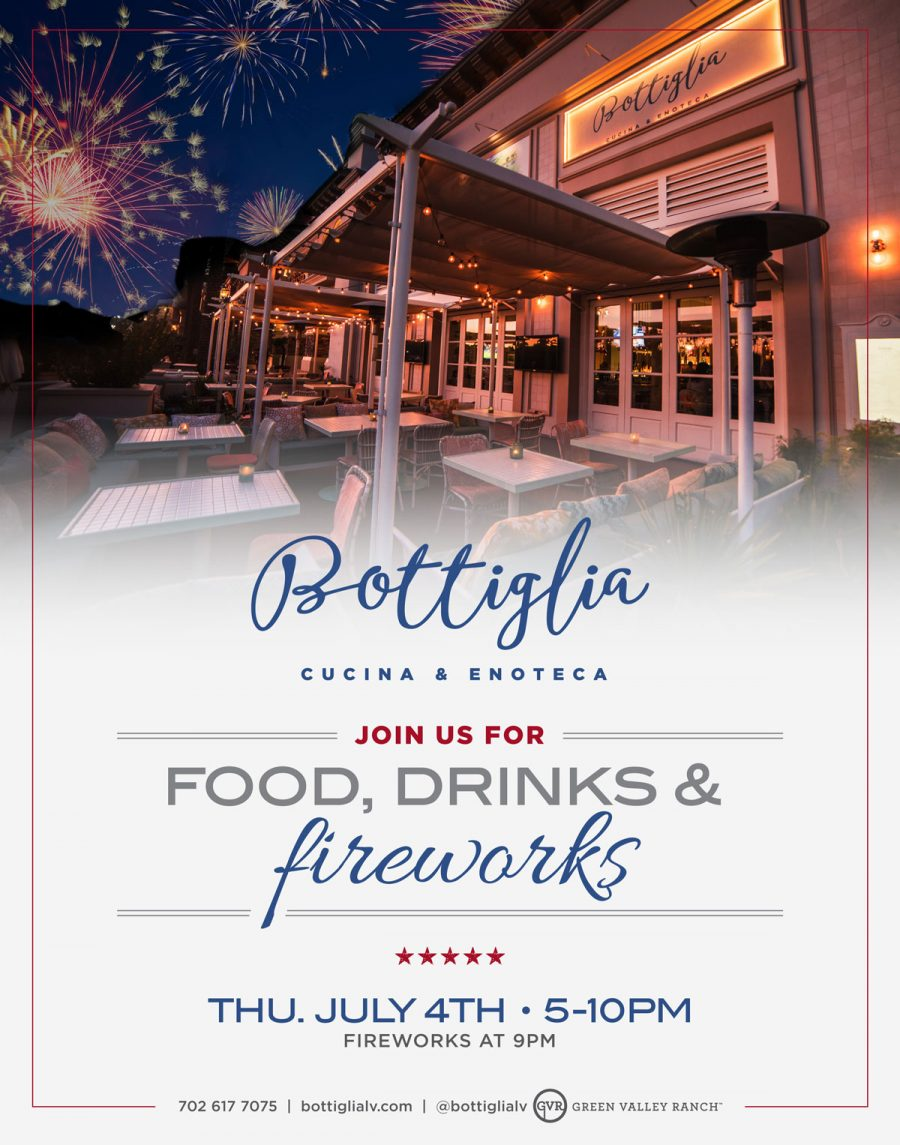 Watch 4th Of July Fireworks in Henderson at Bottiglia Enoteca