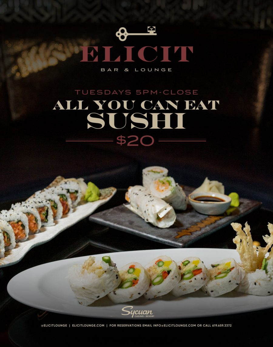 Tuesdays! Enjoy the Best All You Can Eat Sushi in El Cajon