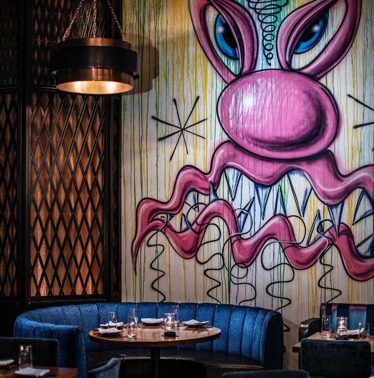 Boho Chic Art of Greene Street Kitchen - Palms Casino Restaurant