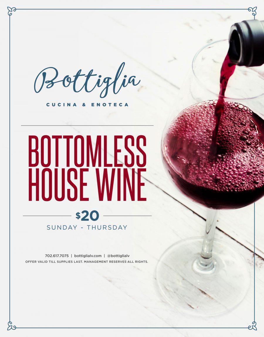 $20 Bottomless House Wine on Sundays!