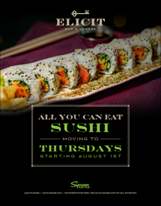 Sushi Thursday Elicit Lounge
