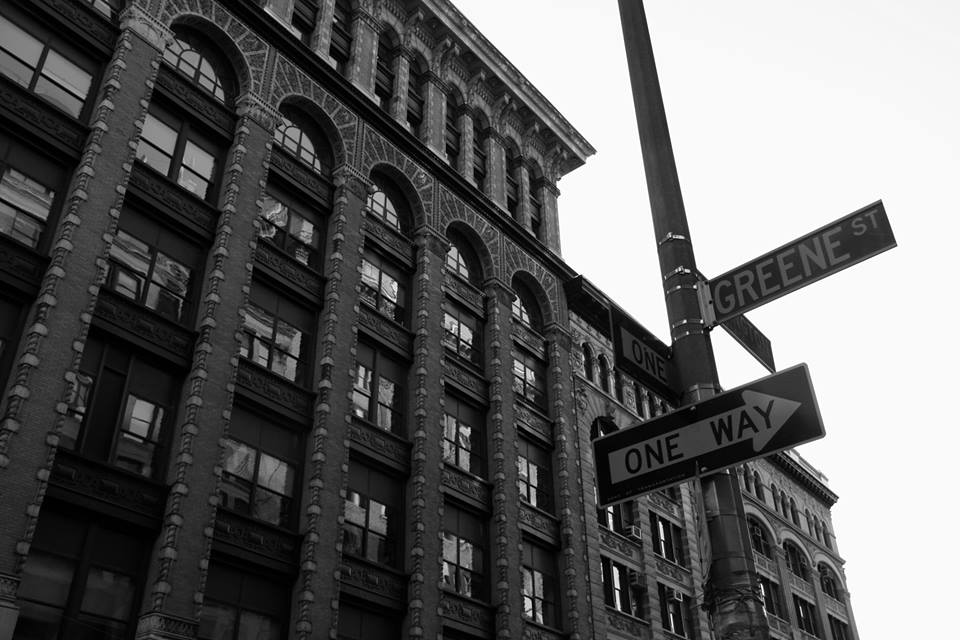 Greene Street - Street Sign - Black & white