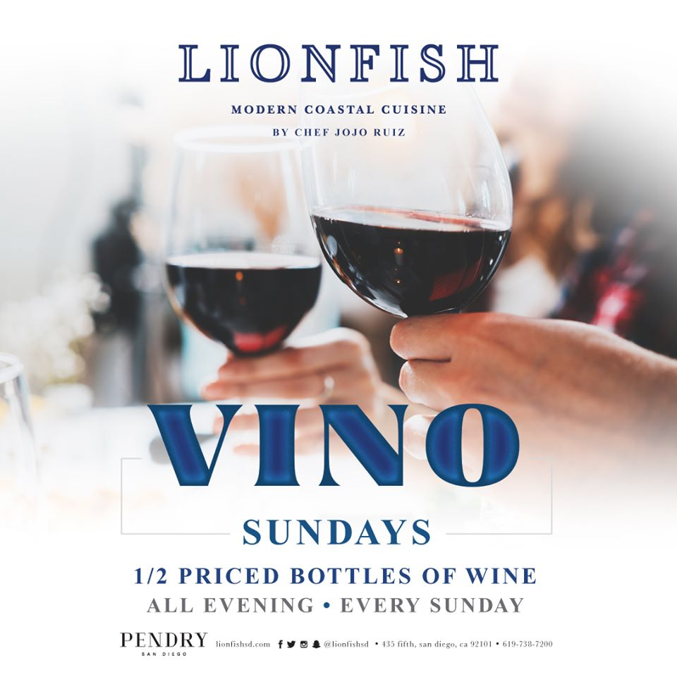 "Vino Sundays Promo - Lionfish ""Rules for Pairing Wine with Fish"" article"