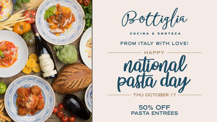 Come Celebrate National Pasta Day with Bottiglia