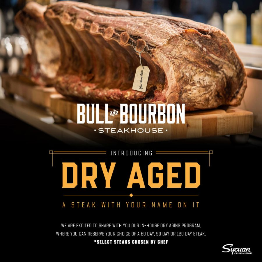 Dry Aged Steak at Bull and Bourbon