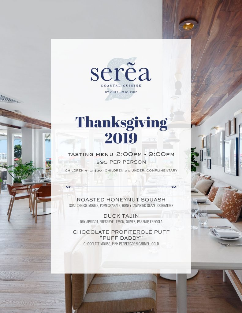 thanksgiving menu for serea