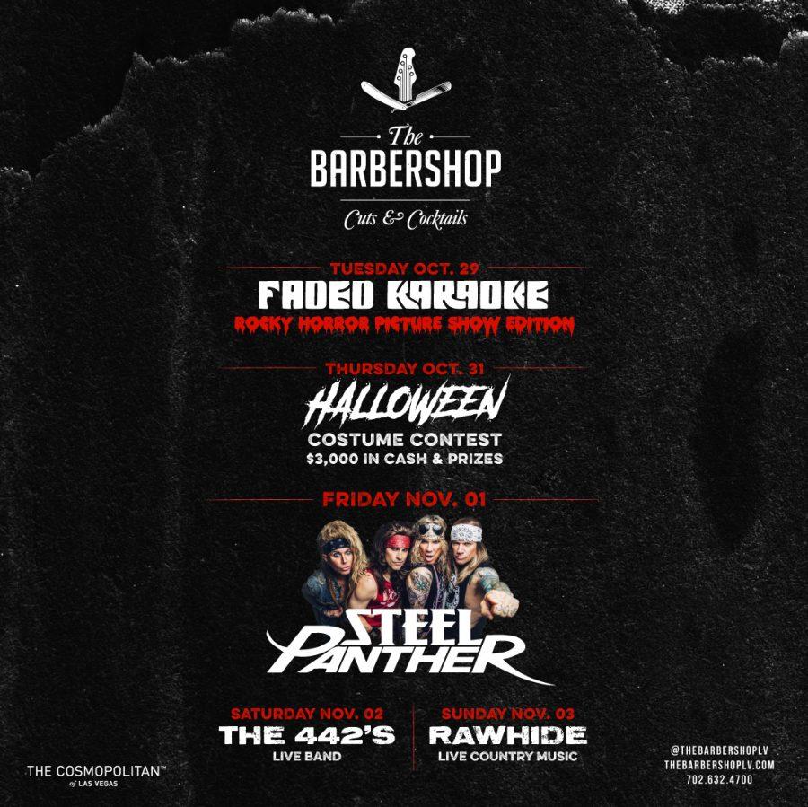 Las Vegas Halloween Lineup at The Barbershop