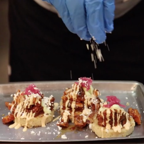 Bacon Tamale Cakes at Borracha