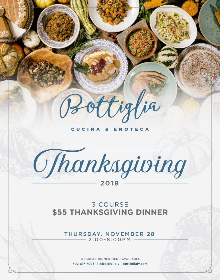 Join the Family at Bottiglia for Our Special Thanksgiving Dinner