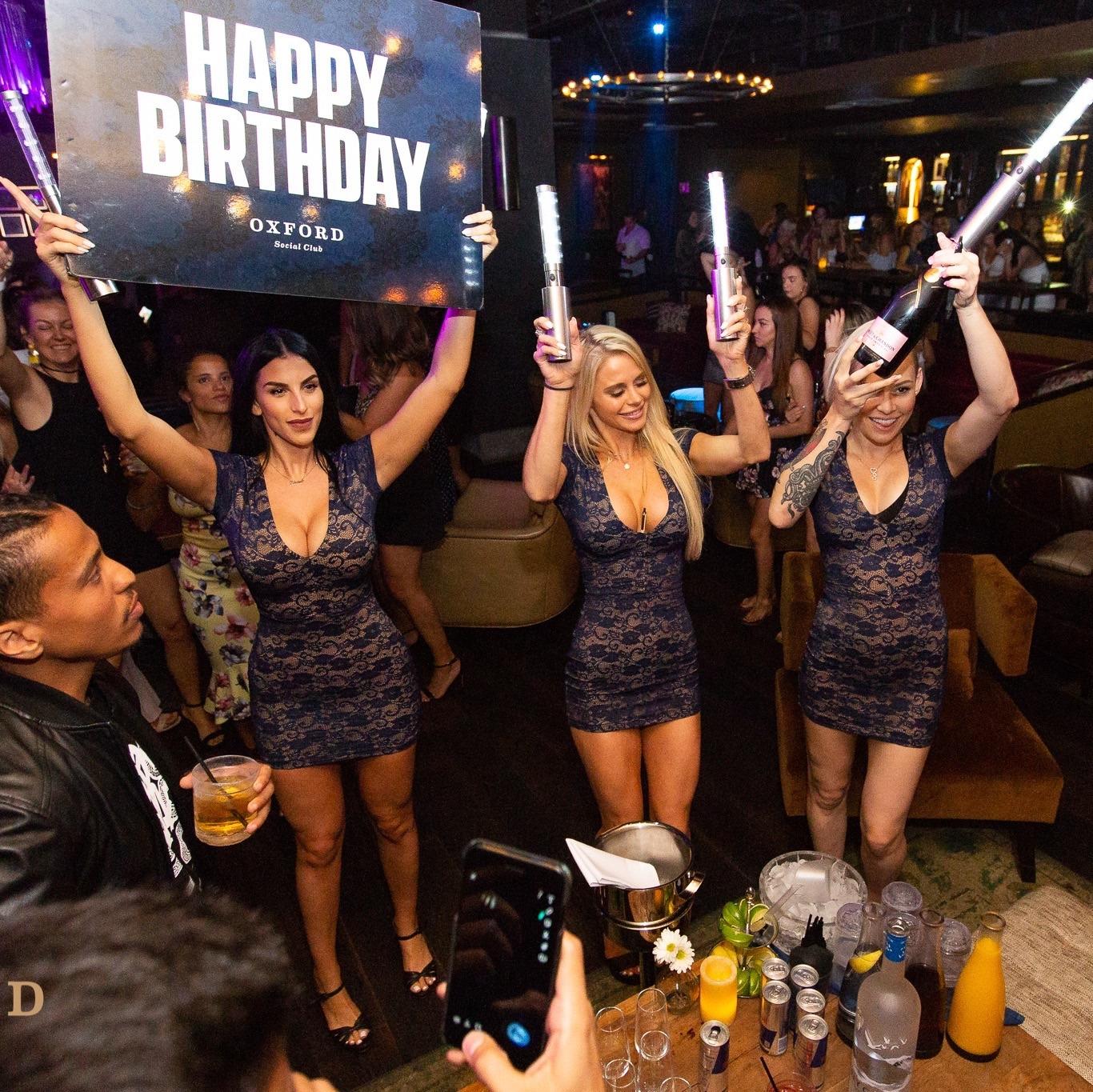 Oxford Nightclub San Diego - Three Beautiful Staff Waitresses