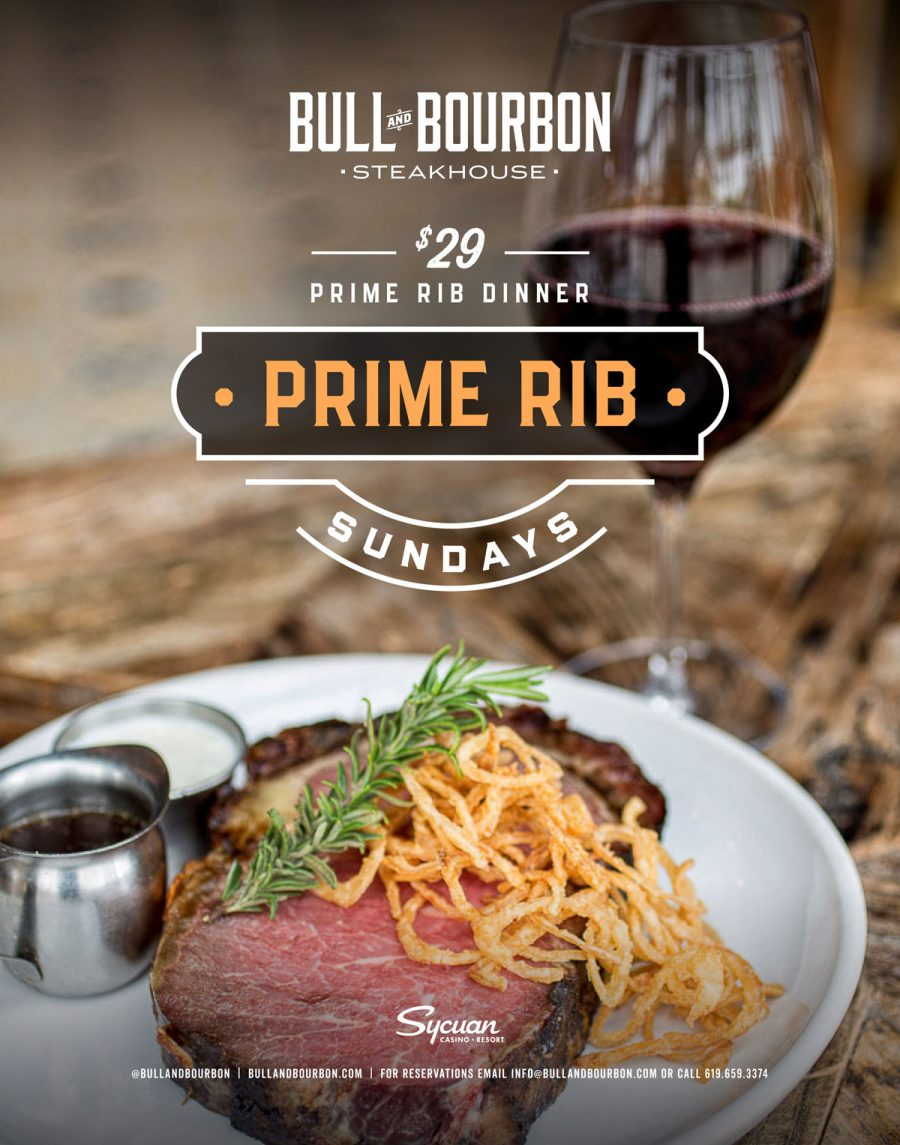 Start Your Week Right with Prime Rib Sundays at Bull & Bourbon