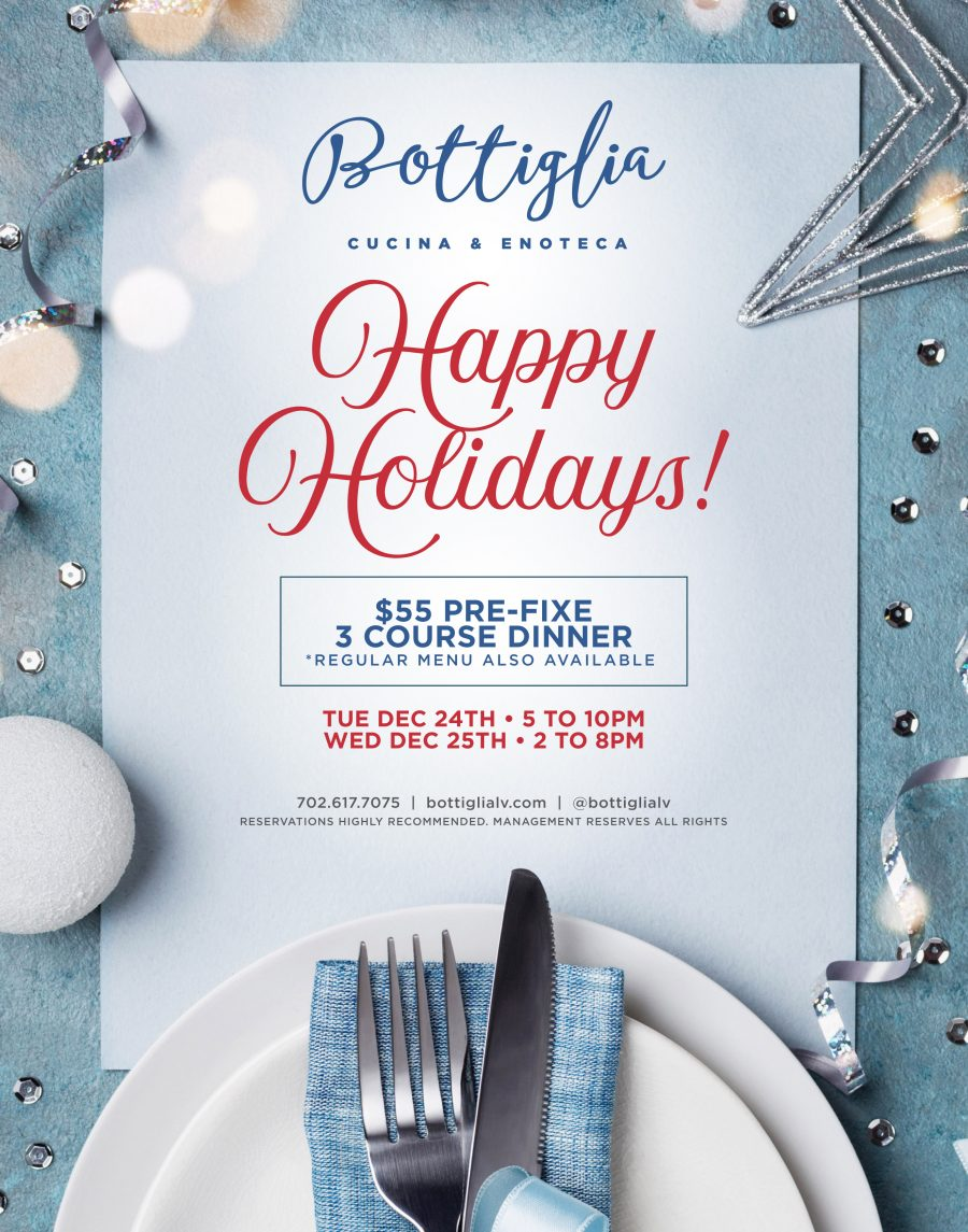 Celebrate the Holidays at Bottiglia