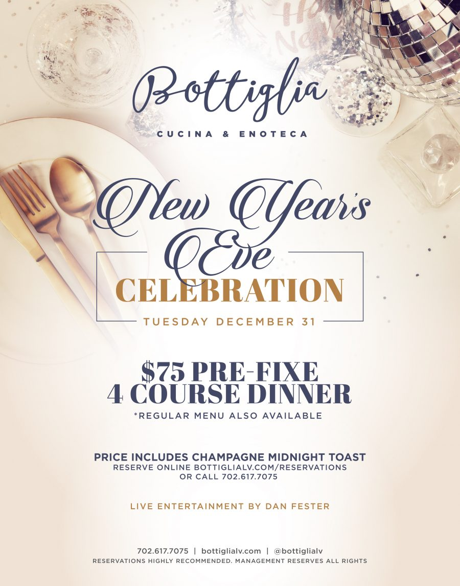 Celebrate New Year's Eve 2020 at Bottiglia!